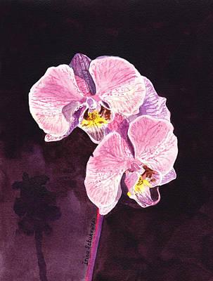 Pink Orchid Print by Irina Sztukowski