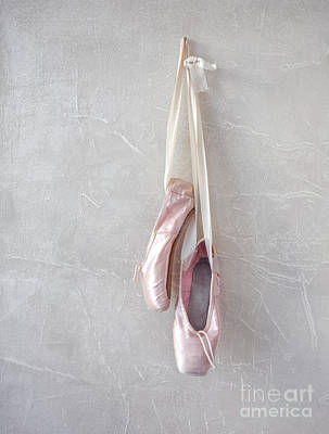 Pink Pointe Shoes Print by Diane Diederich