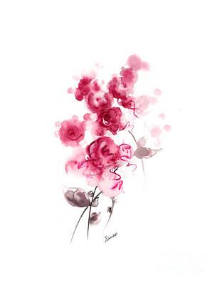 Pink Rose Print by Mariusz Szmerdt