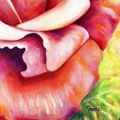 Pink Flower Painting - Pink Rose Two D by Linda Mears