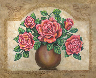 Rose Painting - Pink Roses by Linda Mears