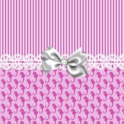 Seahorse Digital Art - Pink Seahorses by D Miller