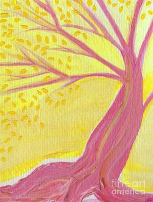 Painting - Pink Tree With Leaves By Jrr by First Star Art