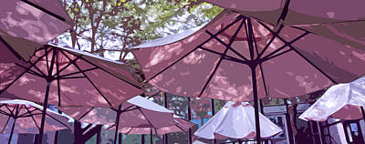 Mauve Photograph - Pink Umbrellas by Brooke Ryan