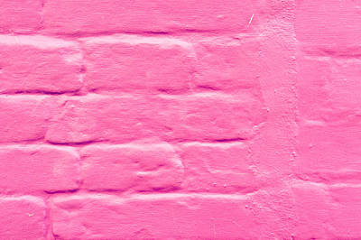 Pink Wall Print by Tom Gowanlock