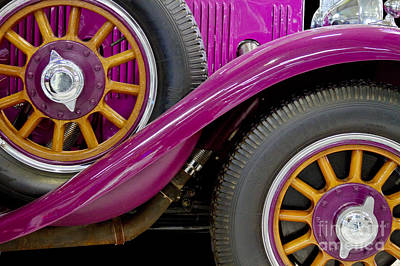 Pink Wheel Abstract Print by Heiko Koehrer-Wagner