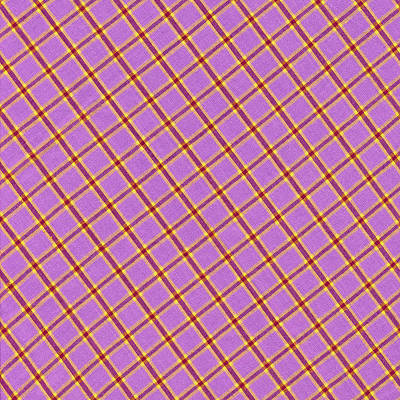 Pink Yellow Red Plaid Textile Fabric Background Print by Keith Webber Jr