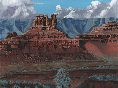 Pinnacles Of The West Print by Timithy L Gordon