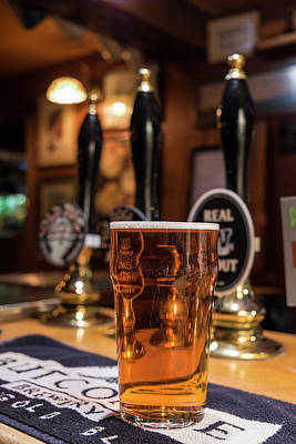 Adam Photograph - Pint Of Beer, Traditional Pub, Uk by Peter Adams