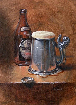 Pint Of Guinness Print by Timothy Jones