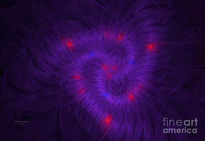 Fractal Digital Art - Pinwheel Fractaling Around by Melissa Messick