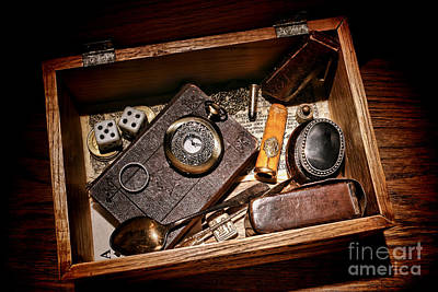 Artifacts Photograph - Pioneer Keepsake Box by Olivier Le Queinec