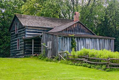 Log Cabin Photograph - Pioneer Log Cabin by Steve Harrington