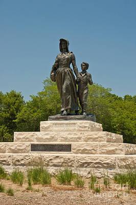 Pioneer Woman Statue, Oklahoma Print by Richard and Ellen Thane