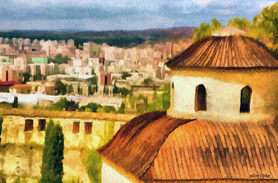 Church Painting - Pious Witness To The Passage Of Time by Jeff Kolker