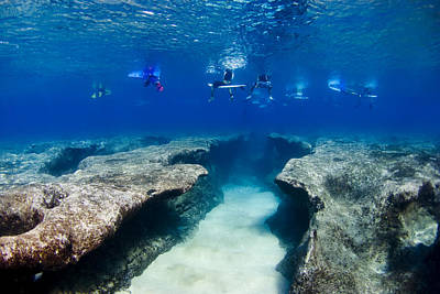 Under Water Photograph - Pipeline's Hungry Reef by Sean Davey