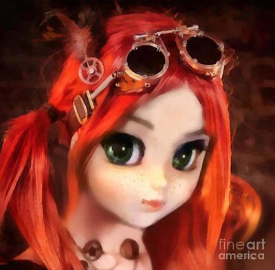 Eyes Mixed Media - Pippi by Mo T