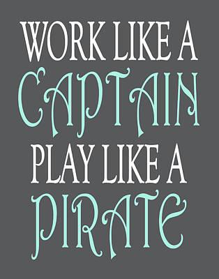 Pirate Quote Print by Tamara Robinson