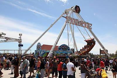 Pirate Ship At The Santa Cruz Beach Boardwalk California 5d23854 Print by Wingsdomain Art and Photography