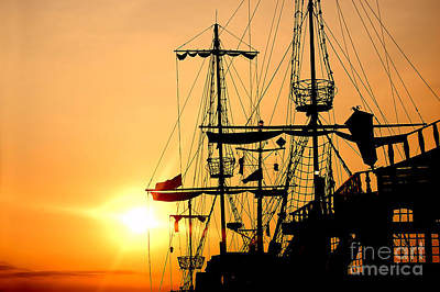 Luminous Photograph - Pirate Ship by Michal Bednarek