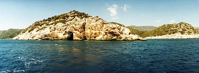 The Edge Photograph - Pirates Cave In The Mediterranean Sea by Panoramic Images