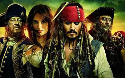 Johnny Depp Digital Art - Pirates Of The Caribbean Stranger Tides by Movie Poster Prints