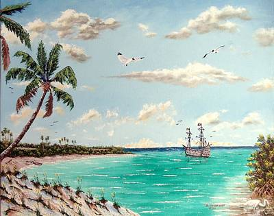 Painting - Pirates On Pavilion Key by Riley Geddings
