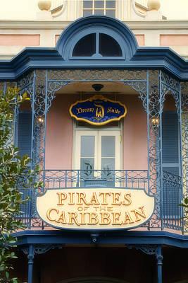 Haunted Mansion Digital Art - Pirates Signage New Orleans Disneyland by Thomas Woolworth