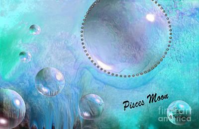 Universe Digital Art - Pisces Moon by Sherri  Of Palm Springs