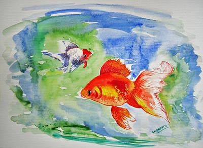 Wet On Wet Painting - Pisces by Shakhenabat Kasana