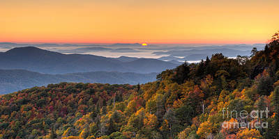 Pisgah Sunrise - Blue Ridge Parkway Print by Dan Carmichael