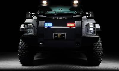 Wall Digital Art - Pit Bull Swat Truck by Marvin Blaine