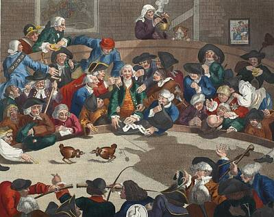 Cruelty Drawing - Pit Ticket, 5th November 1759 by William Hogarth