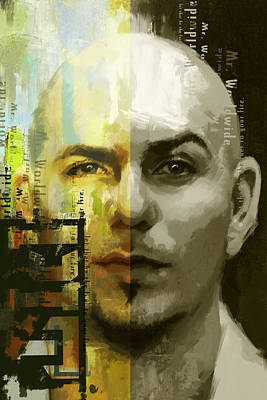 Rapper Painting - Pitbull  by Corporate Art Task Force