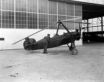 1943 Photograph - Pitcairn Paa-1 Autogyro by Nasa