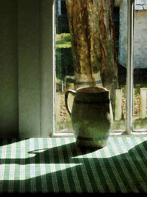 Antique Photograph - Pitcher By Window by Susan Savad