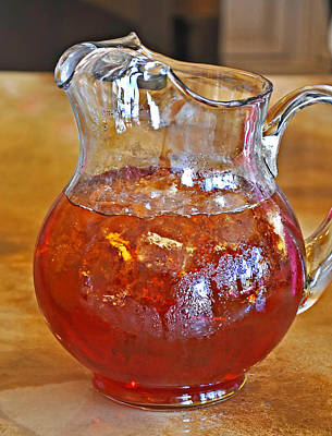 Pitcher Of Iced Tea Print by Valerie Garner