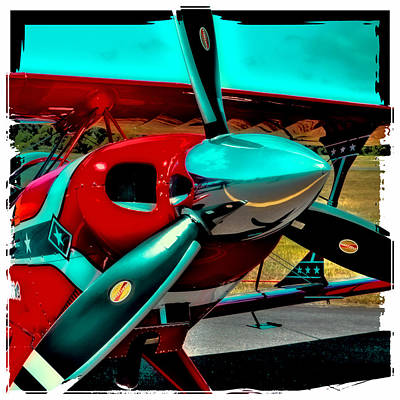 Airplane Engine Photograph - Pitts S2-b Biplane by David Patterson