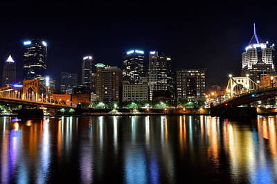 Pittsburgh At 2am Print by Frozen in Time Fine Art Photography