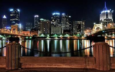 Pittsburgh At Night Print by Frozen in Time Fine Art Photography
