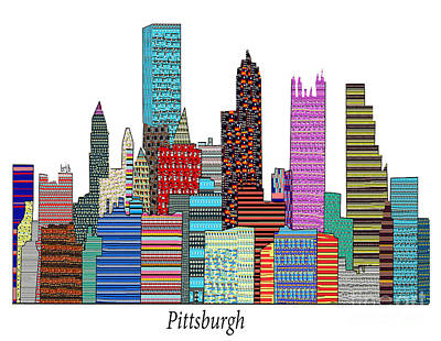 Pennsylvania Drawing - Pittsburgh by Bri B