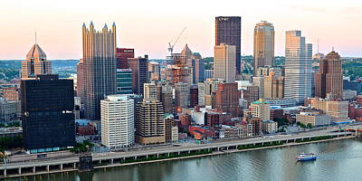 Pittsburgh Panorama Over The Monongahela Print by Frozen in Time Fine Art Photography
