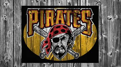 Pittsburgh Pirates Barn Door Print by Dan Sproul