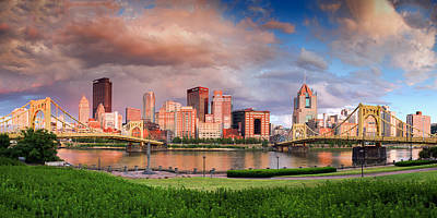 Pittsburgh Skyline After The Storm  Print by Emmanuel Panagiotakis