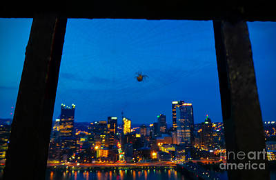 Sky Photograph - Pittsburgh Skyline At Night by Charlie Cliques