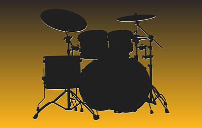 Drum Photograph - Pittsburgh Steelers Drum Set by Joe Hamilton