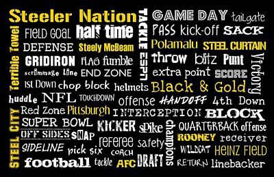 Pittsburgh Steelers Print by Jaime Friedman