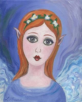 Angel Painting - Pixie One by Linda Mears