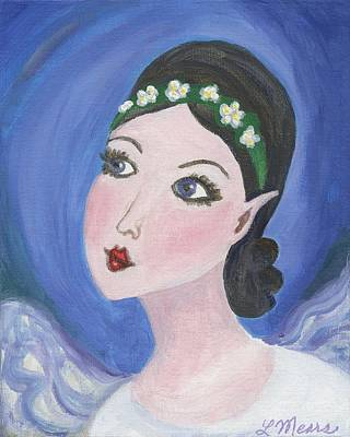 Little Girl Painting - Pixie Two by Linda Mears