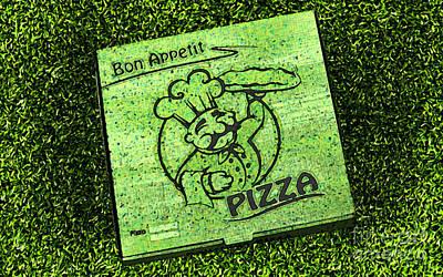 Pizza Al Fresco Print by Michelle Orai